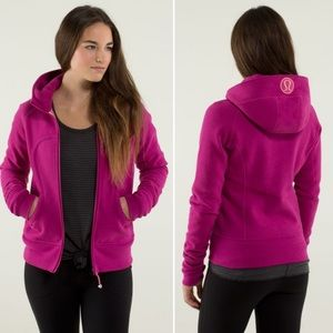 Lululemon Scuba Hoodie Stretch Raspberry Pink Lined Hood